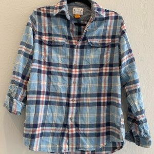 Tops - Olde School Brand Plaid Button Up